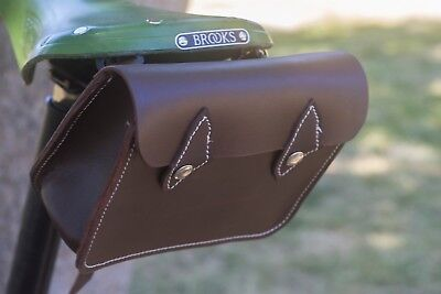 75804ac1a9f Leather Saddle Bag For Bike BROWN Limited Edition by London Craftwork L14