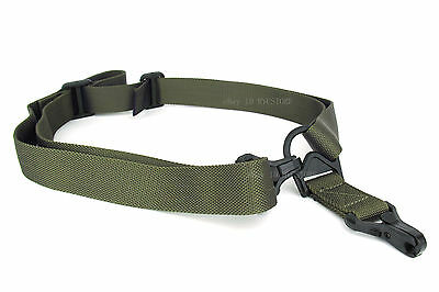 OD Green Color MS3 style Multi Mission 1 & 2 Point Sling for TROY Sling Mount