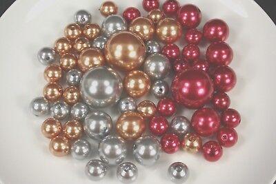 Vases Bulk (CHRISTMAS Set 250 Elegant Vase Fillers Assorted Pearls Beads 3 colors BULK)