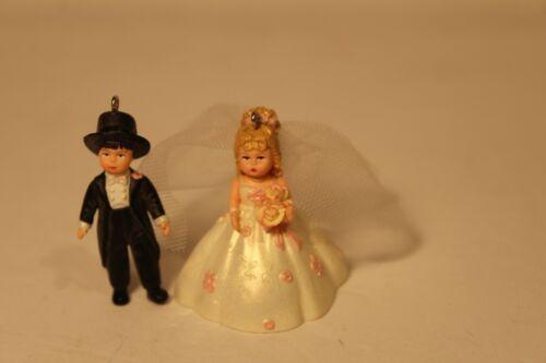Hallmark  Rosette Dreams  Bride and Groom Madame Alexander Miniature Ornament