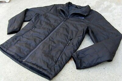 The North Face Puffer Jacket Men's M dark charcoal zip up