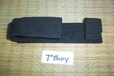 Nylon Short Flashlight Belt Sheath With Plastic Ring Police Security Equipment