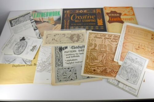 Vintage Lot Leather Craft Books and Patterns Instructions