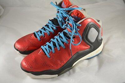 abe2f5f58285 Mens ADIDAS Derrick D ROSE 5 V Scarlet Red Basketball Shoes Size 10.5 1 2