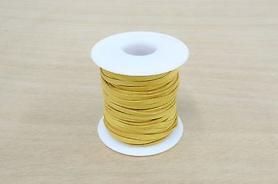 """Deerskin Lace Spool 1/8"""" x 50' GOLD lacing  leather necklaces jewelry"""