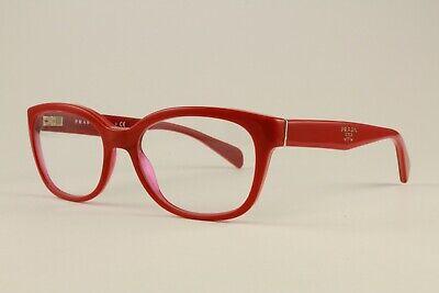 Authentic Prada Glasses VPR20P OAC-1O1 Red Orange 52mm Frames Eyeglasses (Prada Red Eyeglass Frames)