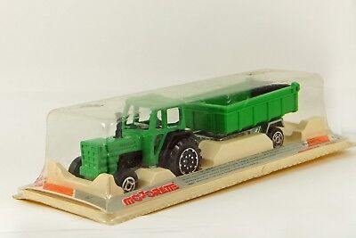 Majorette 316 Tractor + Hay Trailer in Box Vintage France Die Cast  ()