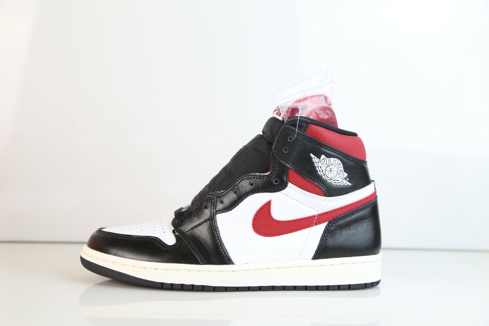 reputable site b4bd0 cb592 Nike Air Jordan Retro 1 High OG Black White Sail Gym Red 555088-061 7-15