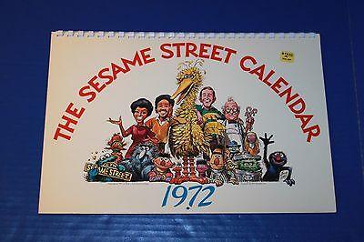 Cute Vintage 1972 Sesame Street Wall Calendar