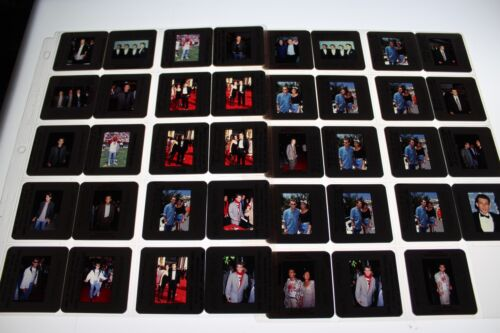 CHRISTIAN SLATER W/CELEBRITIES  LOT OF 35MM SLIDE TRANSPARENCY PHOTO #2