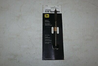 """Vintage John Deere TY3435 3/8"""" Spade Drill Bit on Package JD TY-3435"""
