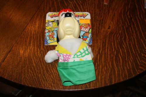 1989 TOM & JERRY RARE DROOPY DOG HAND PUPPET NEW ON HEADER CARD TURNER ENT. CO.