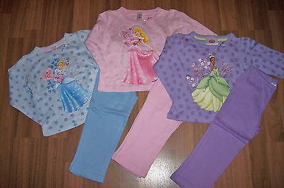 Disney Princess Pyjama rosa lila oder blau Gr. 92 98/104 ()