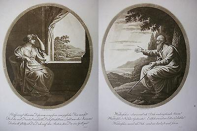 J. H. LIPS ´HOFFNUNG UND WIEDERSEHEN´ 2 x AQUATINTA, KRUSE 244 u. 245, 1811