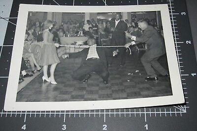 Black Man Limbo Stick w/ White Woman Mixed Race Dance Party 1960's Vintage - Limbo Sticks