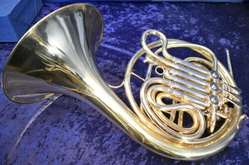 "York Master ""Schmidt Model"" (made by Bohm Meinl) Double French Horn w/Case, Mpc"