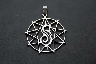 SLIPKNOT Nonagram STAR Polished Stainless Steel pendant w/30 inch ball chain