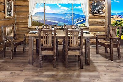 Farmhouse Style Dining Room Furniture Set Table 6 Chairs Amish Made - Amish Furniture Dining Table