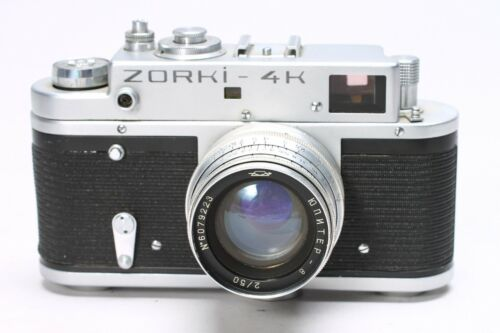 ZORKI 4K 35MM FILM LTM RANGEFINDER CAMERA JUPITER 50MM F/2 LENS
