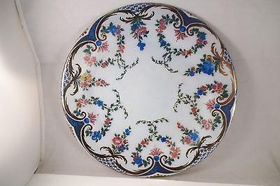 Hardware Metal Plate - Restoration Hardware Tin Metal Plate Rose Garland Sevres Porcelain Pattern