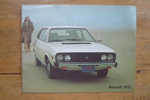 1975-79 Renault 15TL, 17TL, 17 Gordini Brochure