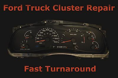 Ford Instrument Cluster Speedometer Odometer Repair Service Fix Read Description
