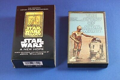 Original 1977 The Story Of Star Wars & New Hope Sound Track Cassette Tapes