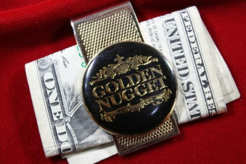 GOLDEN NUGGET CASINO GOLD PLATED MONEY CLIP, VERY NICE NEW CONDITION CLIP