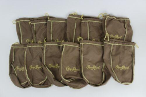 Lot of 12 Crown Royal Vanilla Gold Drawstring Bag Felt Quilt Sew Authentic Craft