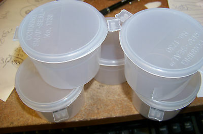 new corning 1730-4l 120mL wide mouth short snap seal container  ~ 5ct ~ crafts Corning Snap Seal