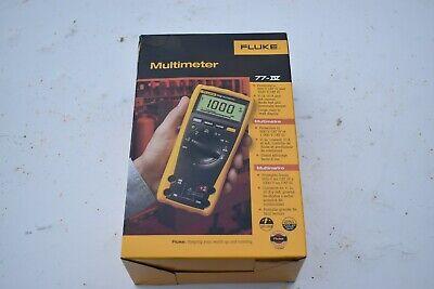 New Fluke 77iv Multimeter Wtest Leads Manual Soft Case Included