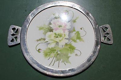Antike Jugendstil Tortenplatte Kuchenplatte Spritzdekor BMF
