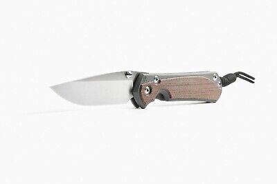 Chris Reeve Knives Small Sebenza 31 Drop Point Natural Canvas Micarta S31-1212
