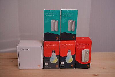 Hive Smart Home Kit, Bulbs, Door sensor, Hub, Plug