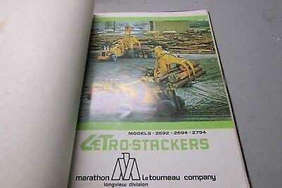 Vintage Letourneau Letro Stackers Models 2592 2594 2794 Sales Brochure