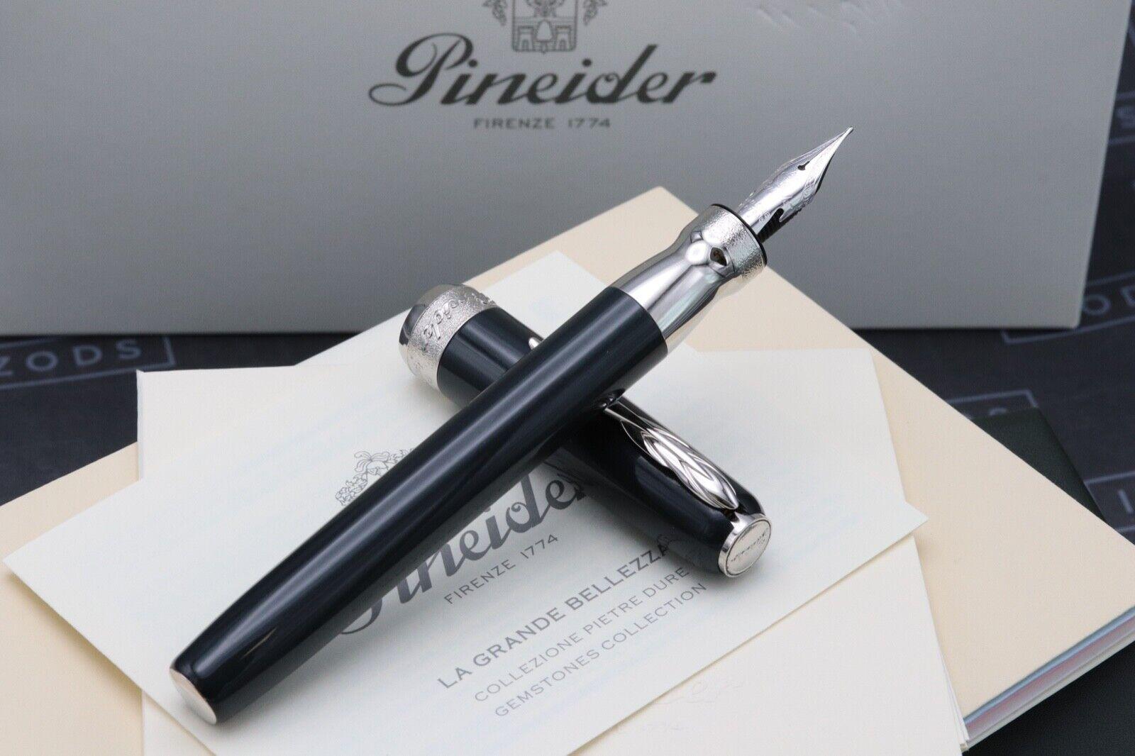 Pineider La Grande Bellezza Gemstones Hematite Grey Fountain Pen 1