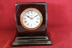 Howard Miller 645-408 Reuben Rosewood Desk Mantel Clock Thermometer Hygrometer