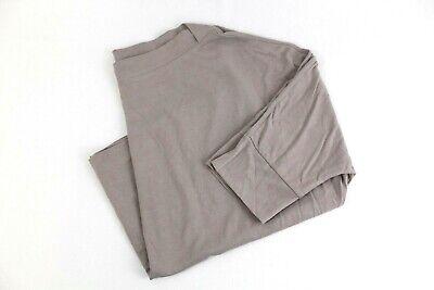 Splendid Women's Large Tan Short Sleeved Boatneck Blouse Top