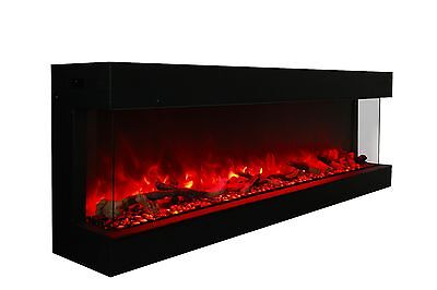 "Amantii Panorama Series 72-TRU-VIEW-XL Sided Electric Fireplace 72"" NEW MODEL"