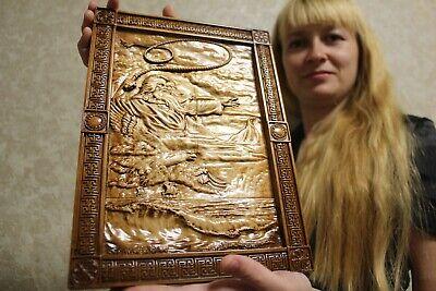 """Epic Slavic Wooden Carved picture """"Stribog (Стрибог)""""   14"""" size."""