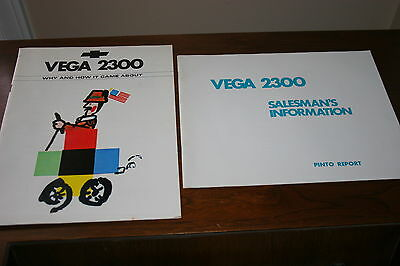 1971 CHEVROLET VEGA DEALER  SALES INFORMATION BOOKLETS MATERIAL