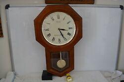 Seiko Quartz Wooden Wall Clock