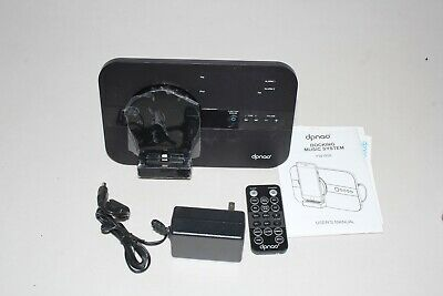 Dpnao 5 in 1 iPhone Charger Dock Station with Alarm Clock FM Radio Black YW-008