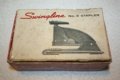 Vintage Swingline No. 3 Speed Stapler Gray In Original Box And Staples Included