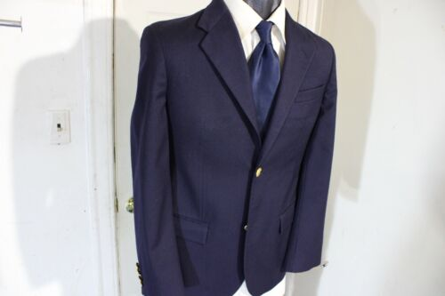POLO RALPH LAUREN SIZE 18 NAVY 2 BUTTON SPORTCOAT W/GOLD BUTTONS