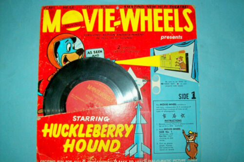 Rare/Vintage 1960 Huckleberry Hound & Yogi Bear Movie-Wheels Toy   Free Shipping
