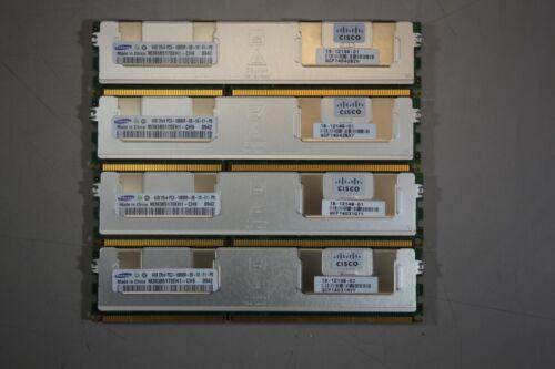 Lot of 4 Samsung 4GB 2Rx4 PC3-10600R DDR3-1333MHz ECC M393B5170EH1-CH9Q1 Server