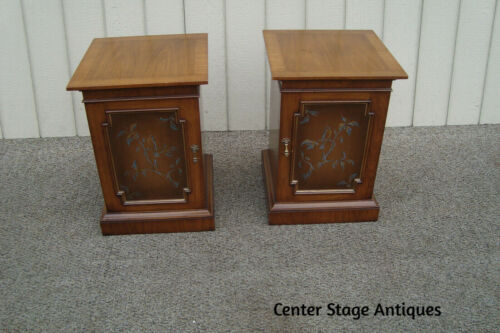 60842 Pair Decorator Nightstand End Table Stands