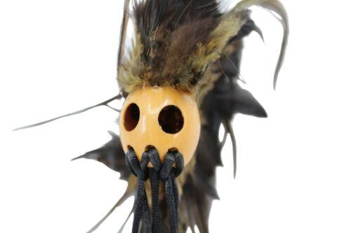 """Ikaika Hawaiian Warrior / Koa Helmet Hanging Car Decor - 1"""" Kamani Nut, Black"""