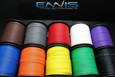 18 GAUGE WIRE 10 COLORS 25 FT EA PRIMARY AWG STRANDED COPPER POWER REMOTE CABLE